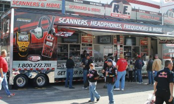 NASCAR race scanners & more - a good example of the NASCAR-specific technology for the race fan, at Texas Motor Speedway