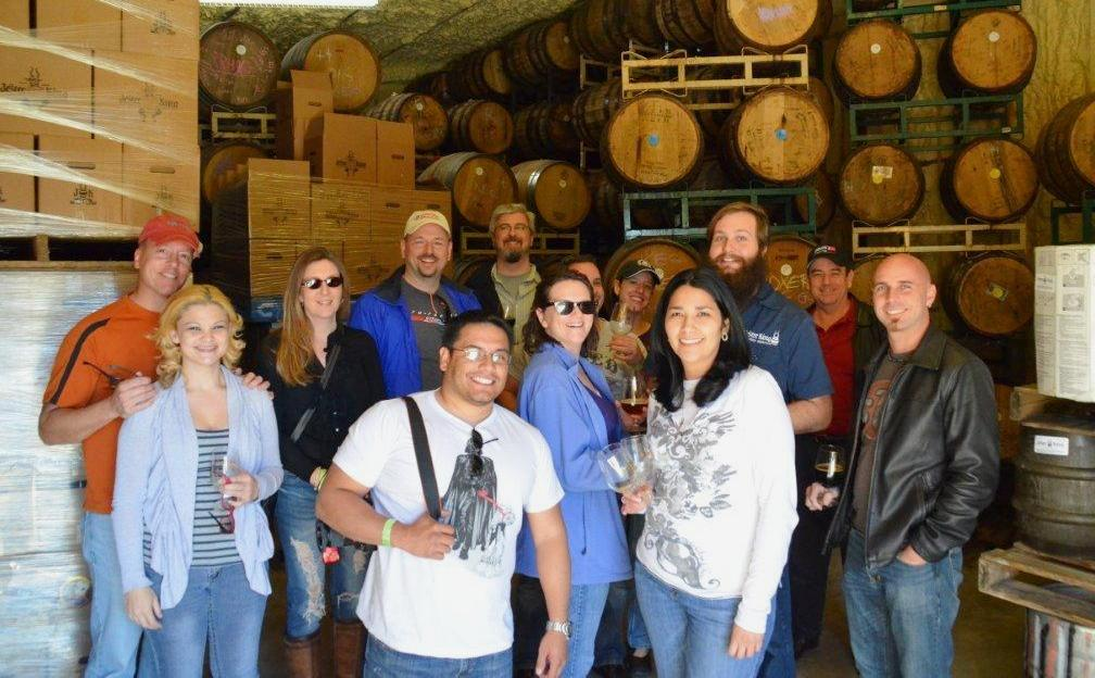 Partial group shot of Tejas Miatas at Jester King Craft Brewery - Courtesy of Jon Etkins