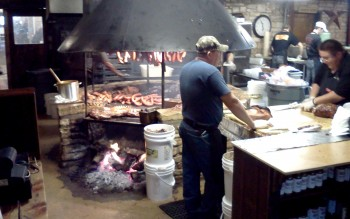 Salt Lick BBQ's smokin' fire pit, a Texas meat lover's paradise - a great way to end the Tejas Miatas run!