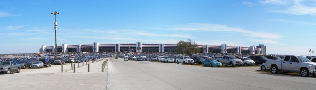 Texas Motor Speedway facade & parking lot, November 2011
