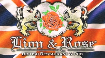 Lion & Rose British Restaurant & Pub -Union Jack logo