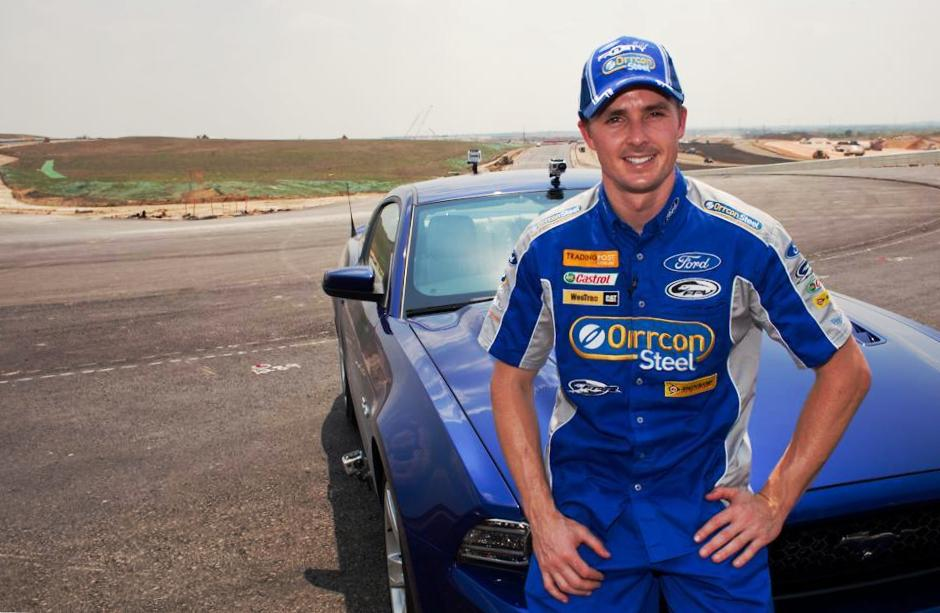 Mark 'Frosty' Winterbottom, pausing during his test drive at speed at CoTA (at Turn 11 apex) - Courtesy of GlobeNewswire.com