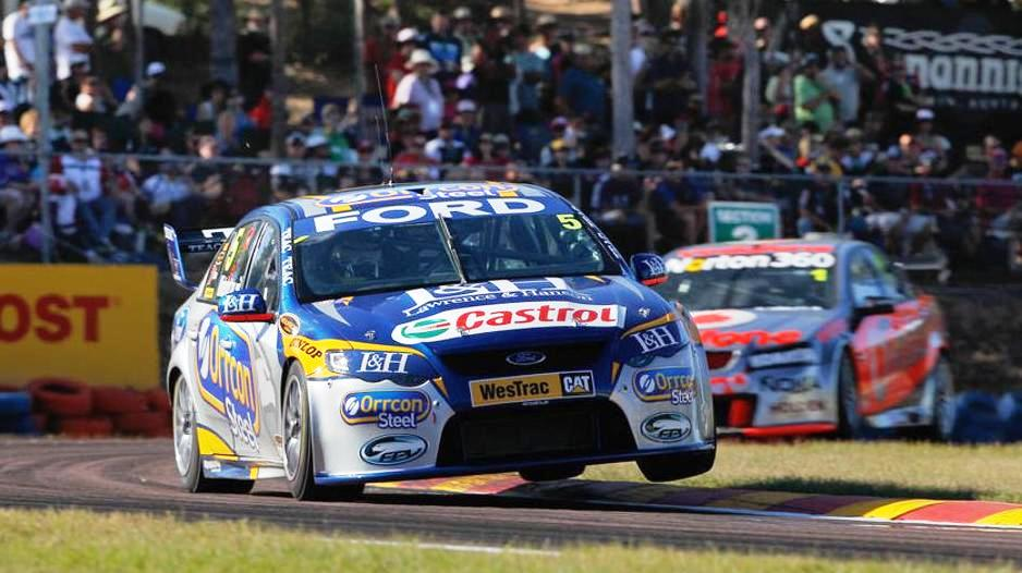 Mark Winterbottom rounds a bend racing at Hidden Valley - June 2012 - Courtesy of Mark Horsburgh Edge Photographics via AAP
