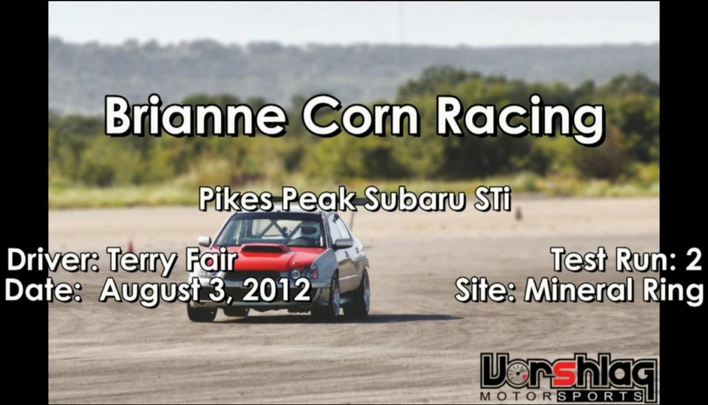 Brianne's Pikes Peak Subaru test run - 08-03-2012
