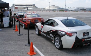 Scion FR-S First Drive event - Cars lined up for the next drivers run group