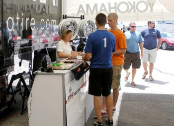 Scion FR-S First Drive event - Danielle Hunt assisting in getting registrants signed in