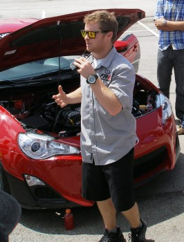 Scion FR-S First Drive event - Shawn Hunt, Scion FR-S Product Specialist, exlaining the car's features