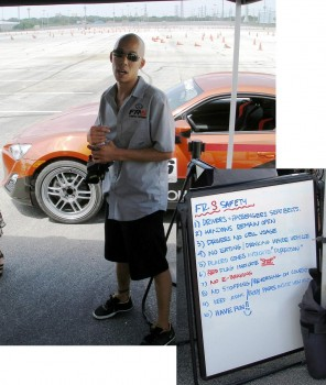Scion FR-S First Drive event - Staff providing driver safety meeing & the FR-S Safety Rules