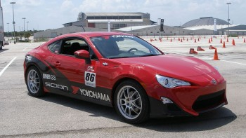 Scion FR-S First Drive event - at a large AT&T Center parking lot, autocrossed on in the past by SASCA!