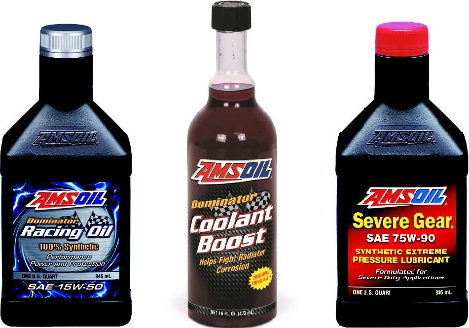 These are the actual AMSOIL products being used in Brianne Corn's Pikes Peak Subaru STi race car for 2012!