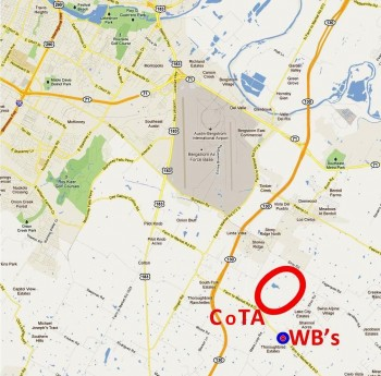 Location map of Wild Bubba's, just down the road from CoTA...
