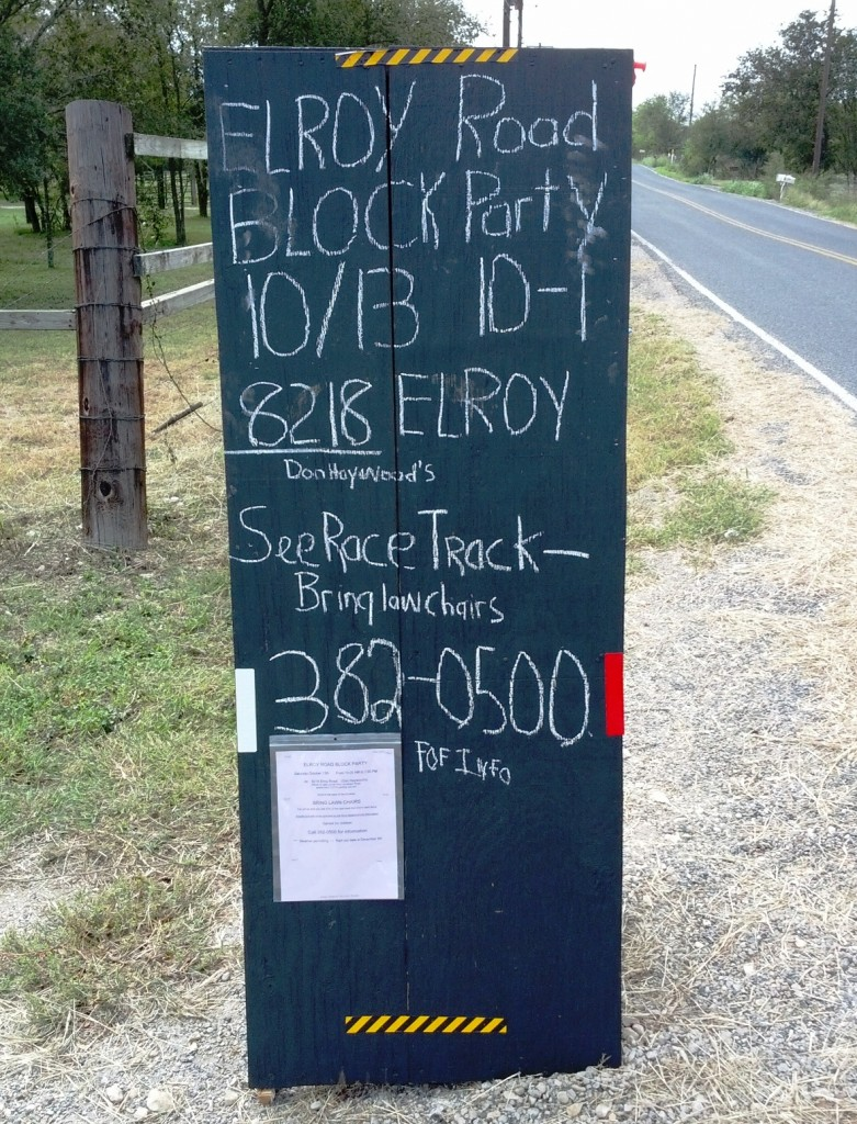 Elroy Block Party sign