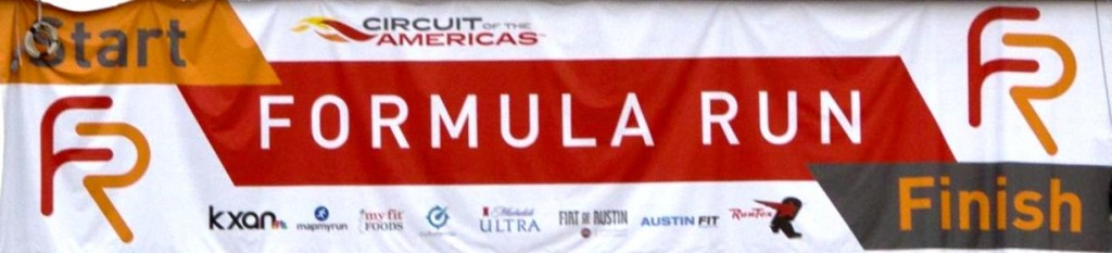 2012 Formula Run Start-Finish banner at CoTA