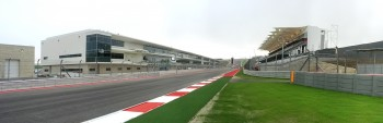 2012 Formula Run at CoTA, front straight from Turn 20, viewing Pits-Paddock & Main Grandstands...