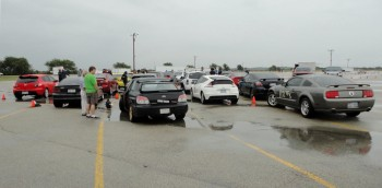 Spokes wet 'Watercross' at San Antonio Raceway - staging on the grid - SEP 2012