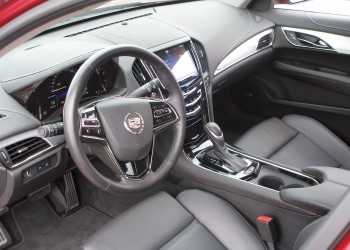 2013 Cadillac ATS Sedan, leather interior cockpit, at CoTA - December 2012