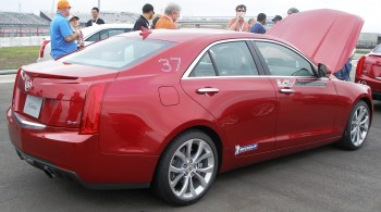 2013 Cadillac ATS Sedan, on Michelin run-flat tires, at CoTA - December 2012