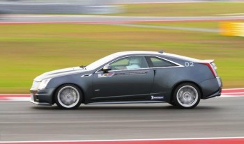 Cadillac CTS-V at speed on CoTA, at Cadillac V Series Performance Academy (V-Lab) December, 2012 (Circuit of The Americas photo)