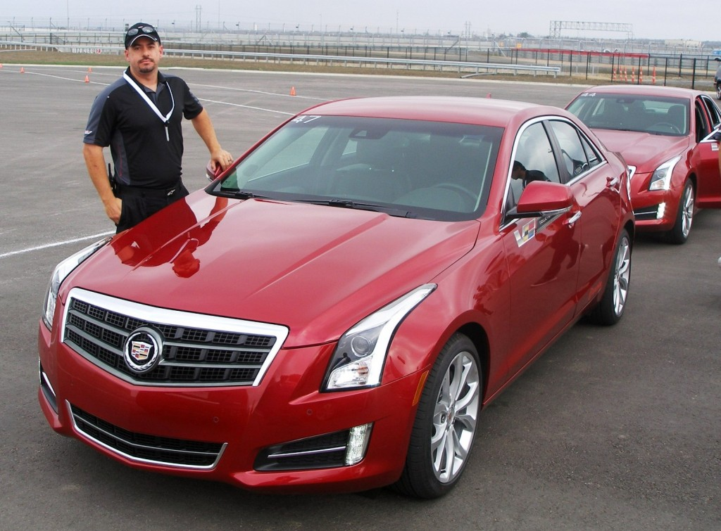 Nick, my astute driving instructor, at Cadillac V-Series Lab, at CoTA - December 2012