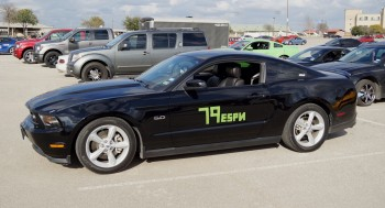 Another Mustang, a black 5.0, ready to autocross