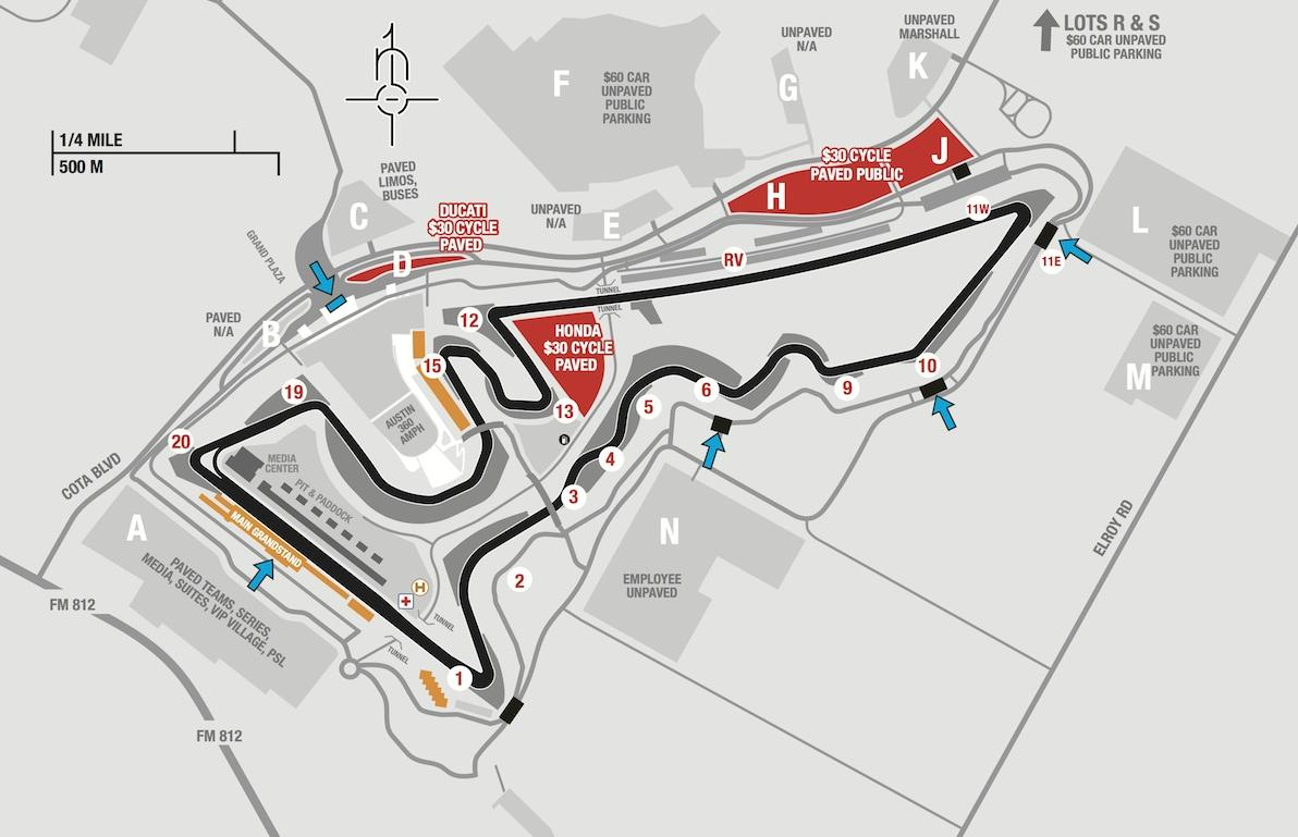 MotoGP Track Course at Circuit of The Americas