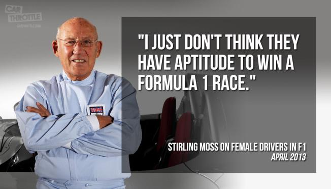 Sir Stirling Moss' opinion on Female Drivers in Formula 1