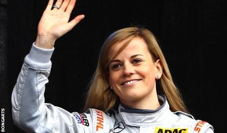 Susie Wolff, Scottish female F1 test driver, tests for Williams