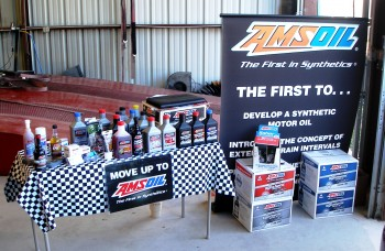 AMSOIL display at Lone Star Dyno during BEGi Dyno Day